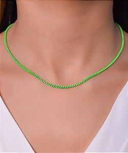 Corrente estilo veneziana resinada na cor verde neon