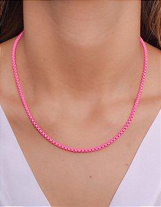 Corrente resinada rosa pink neon