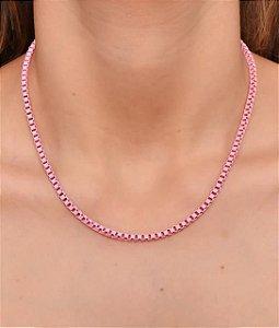 Corrente estilo veneziana resinada rosa G