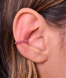 Piercing todo de cristal na cor pink