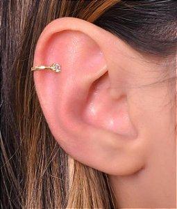 Piercing fake simples com uma zirconia na ponta tamanho M