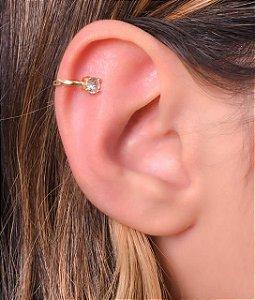 Piercing simples com uma zirconia na ponta tamanho G