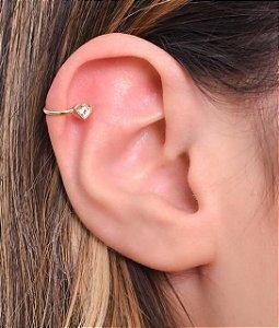 Piercing com coração de zirconia na ponta