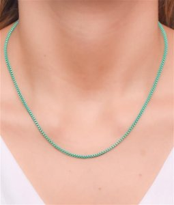 Corrente estilo veneziana P na cor verde esmeralda