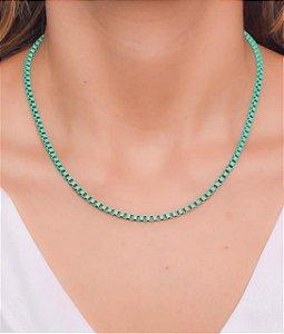 Corrente estilo veneziana G na cor verde esmeralda