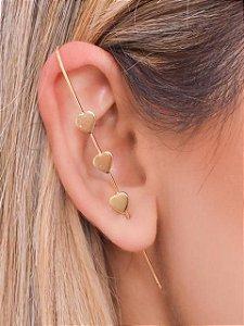 Ear Pin 3 corações