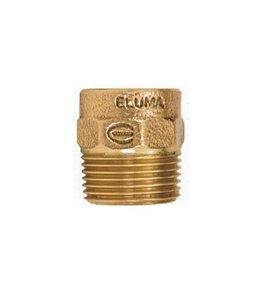 CONECTOR ROSCA MACHO C/ ANEL 15 MM X 1/2'' - ELUMA