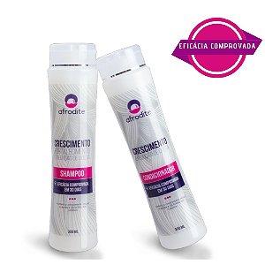 Kit Crescimento de Cabelo - Shampoo + Condicionador Afrodite