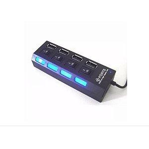 ADAPTADOR DIVISOR HUB USB 2.0 4 PORTAS
