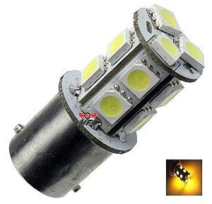 LAMPADA 13 LED BA15S 1 POLO P21W 1156 1141 LARANJA 12V