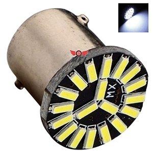 LAMPADA 19 LED CAMBUS BA15S 1 POLO 1156 1141 BRANCO P21W 12V