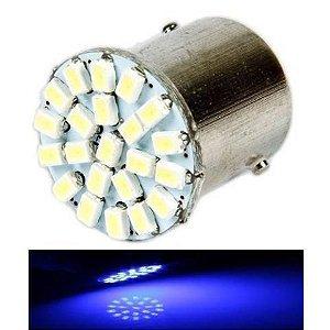 Lampada 22 Led Ba15s 1 Polo P21w 1156 1141 Azul 3020 12v