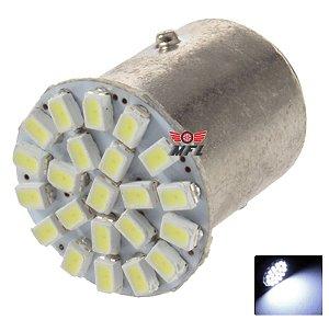 LAMPADA 22 LED BA15S 1 POLO P21W 1156 1141 BRANCO 3014 12V