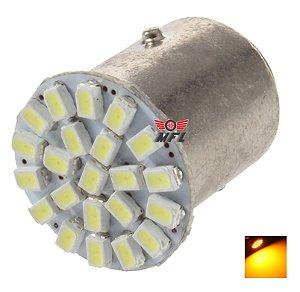LAMPADA 22 LED BAY15D 2 POLO P21/5W 1157 1034 LARANJA 3014 12V