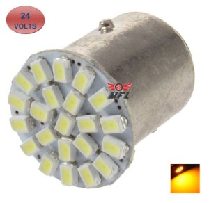 LAMPADA 22 LED BAY15D 2 POLO P21/5W 1157 1034 LARANJA 3014 24V