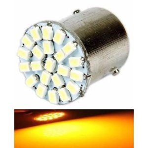 Lampada 22 Led Bay15d 2 Polo P21/5w 1157 1034 Laranja 3020 12v