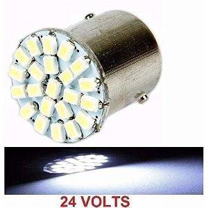 Lampada 22 Led Bay15d 2 Polo P21/5w 1157 1034 Branco 3020 24v