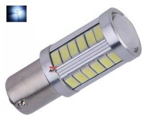 LAMPADA 33 LED CREE BA15S 1 POLO P21W 1156 1141 BRANCO 12V