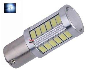 LAMPADA 33 LED CREE BAY15D 2 POLO P21/5W 1157 1034 BRANCO 12V