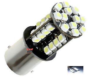 LAMPADA 44 LED CAMBUS BA15S 1 POLO P21W 1156 1141 BRANCO 12V