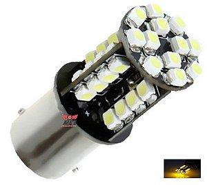 LAMPADA 44 LED CAMBUS BA15S 1 POLO P21W 1156 1141 LARANJA 12V