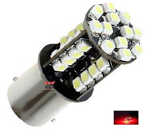 LAMPADA 44 LED CAMBUS BAY15D 2 POLO P21/5W 1157 1034 VERMELHO 12V