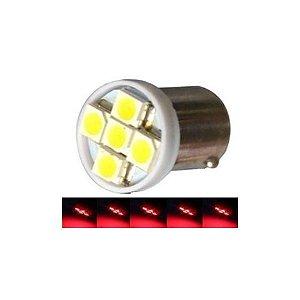 LAMPADA BA9S 5 LED T4W 69 VERMELHO 12V