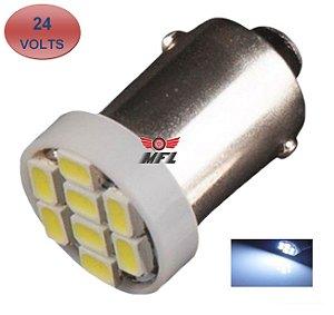 LAMPADA BA9S 8 LED T4W 69 BRANCO 24V