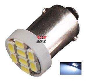 LAMPADA BA9S 8 LED T4W 69 BRANCO 12V