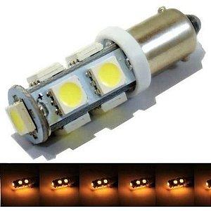 Lampada Ba9s 9 Led T4w 69 Amarelo 12v