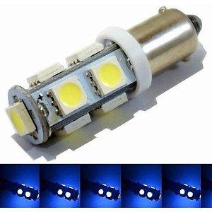 Lampada Ba9s 9 Led T4w 69 Azul 12v