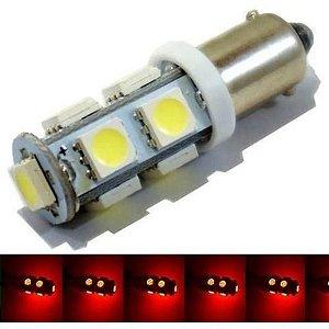 Lampada Ba9s 9 Led T4w 69 Vermelho 12v