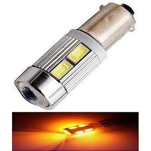 Lampada Ba9s Cambus Cree 10 Led T4w 69 Amarelo 12v