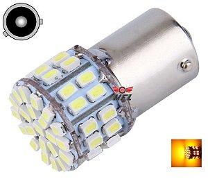 LAMPADA 50 LED BAU15S 1 POLO PY21W 1056 LARANJA AMBAR 12V