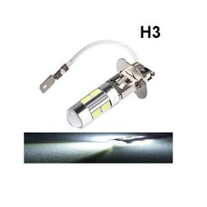 Lampada H3 10 Led Cree Branco 12v