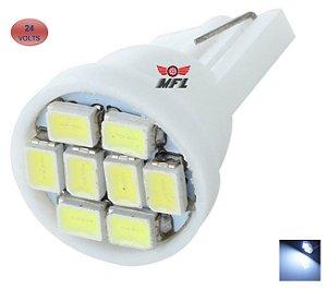 LAMPADA T10 8 LED W5W BRANCO 24V