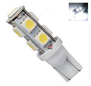 LAMPADA T10 9 LED W5W BRANCO 5050 12V