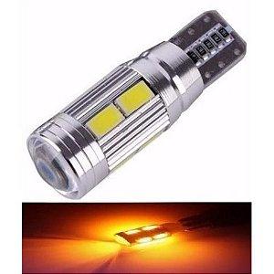 Lampada T10 Cambus Cree 10 Led W5w Amarelo 12v