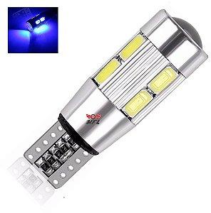 LAMPADA T10 CAMBUS CREE 10 LED W5W AZUL ESCURO 12V