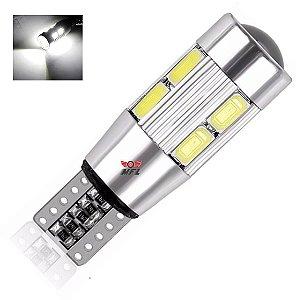 LAMPADA T10 CAMBUS CREE 10 LED W5W BRANCO 12V