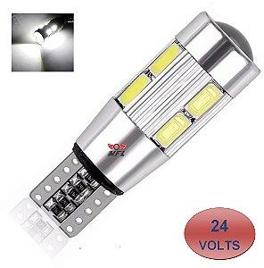 LAMPADA T10 CAMBUS CREE 10 LED W5W BRANCO 24V