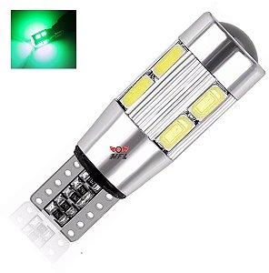 LAMPADA T10 CAMBUS CREE 10 LED W5W VERDE 12V