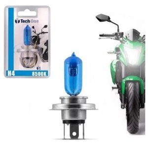 Lampada Super Branca H4 8500k 12v 35w Moto Techone