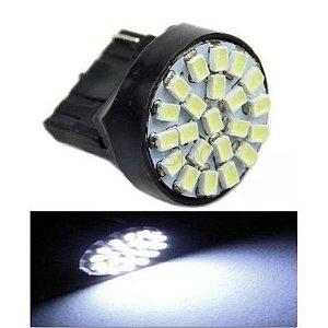 Lampada T20 22 Led 1 Polo 7440 W21w Branco 12v