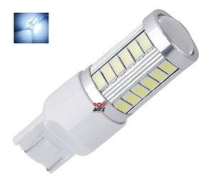 LAMPADA T20 33 LED CREE 1 2 POLO 7440 7443 W21W BRANCO 12V