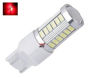 LAMPADA T20 33 LED CREE 1 2 POLO 7440 7443 W21W VERMELHO 12V