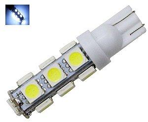 LAMPADA T10 13 LED W5W BRANCO 5050 12V