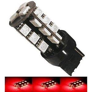 Lampada T20 Cambus 27 Led 2 Polo 7443 W21w Vermelho 12v