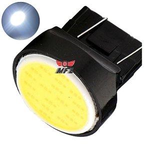 LAMPADA T20 COB LED 1 2 POLO 7440 7443 W21W BRANCO 12V