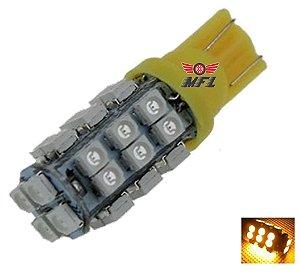 LAMPADA T10 28 LED W5W AMARELO 12V
